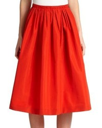 Burberry London Taffeta Flared Skirt