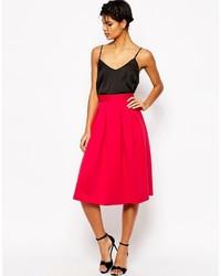 Asos Midi Prom Skirt In Scuba
