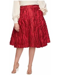 Unique Vintage Plus Size High Waist Greenwich Swing Skirt Skirt