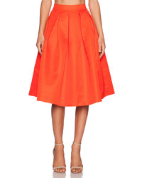 Elliatt Procession Skirt In Orange Size S