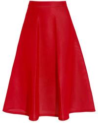 DKNY Scuba Mesh Midi Skirt