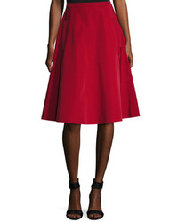 Lanvin Solid Side Pockets Full Skirt