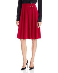 Star vixen midi length full sweep ity knit skirt with o ring adjuststable waist detail medium 3663260
