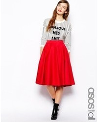Women's Red Full Skirts from Asos | Women's Fashion