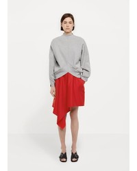 Vejas Bias Cut Wool Skirt