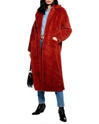 Topshop Luxe Faux Fur Coat