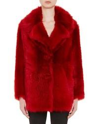 Prada Sheep Shearling Oversized Coat