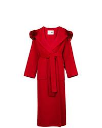 Fur collar trench coat medium 8163752