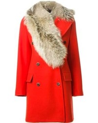 MSGM Fur Collar Coat