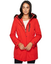 Softshell with sherpa lining and detachable fur trimmed hood coat medium 5257775