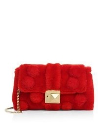 Sonia Rykiel Mini Le Copain Lacon Fur Chain Shoulder Bag