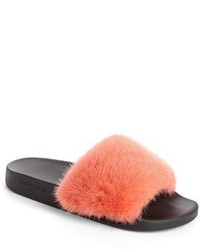 Givenchy Genuine Mink Fur Slide Sandal