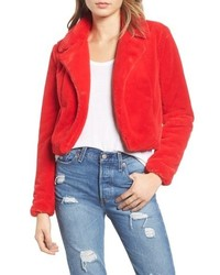Cropped faux fur jacket medium 8728907