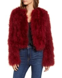 Rebecca Minkoff Pacha Genuine Turkey Feather Jacket