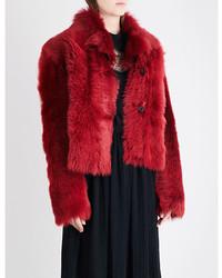 Rochas Single Breasted Shearling Jacket