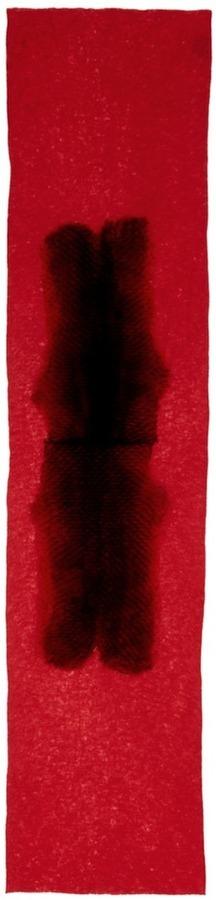 Franco Ferrari Orylag Fur Panel Cashmere Silk Scarf