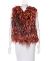 Fur open front vest w tags medium 6447891
