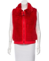 Glamourpuss fur paneled down vest w tags medium 6447892