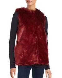 Sleeveless faux fur vest medium 6447890