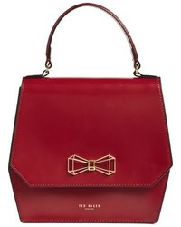 Red Geometric Crossbody Bag