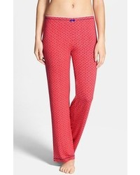 Red Geometric Pajama Pants