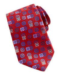 Robert Graham Tossed Florette Silk Tie Red