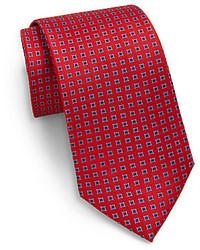 Saks Fifth Avenue Diamond Neat Silk Tie
