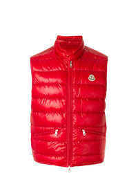 Moncler Classic Padded Gilet Red