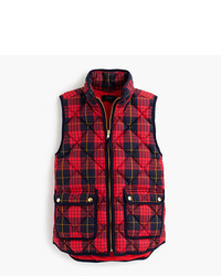 J.Crew Excursion Vest In Tartan