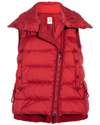 Moncler Laurie Quilted Shell Down Gilet Red