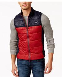 Armani Jeans Logo Colorblock Puffer Vest