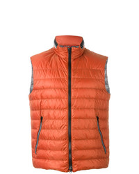Fay Padded Zip Gilet Red