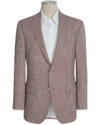 Jack Victor Conway Check Sport Coat Worsted Wool Modern Tailored Fit