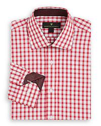 Regular Fit Contrast Trim Gingham Dress Shirt