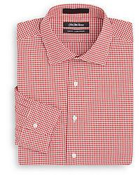 Saks Fifth Avenue Slim Fit Gingham Cotton Dress Shirt