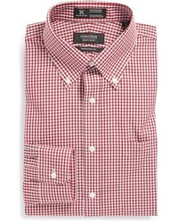 Nordstrom Smartcaretm Wrinkle Free Traditional Fit Gingham Dress Shirt