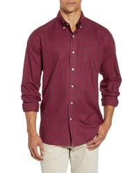 Red Gingham Flannel Long Sleeve Shirt