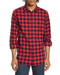 Scotch & Soda Regular Fit Check Flannel Button Up Shirt