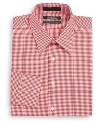 Saks Fifth Avenue Classic Fit Gingham Cotton Dress Shirt