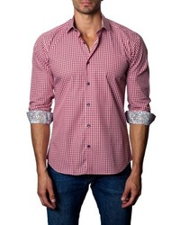 Gingham check sport shirt medium 4912121