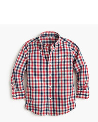 J.Crew Kids Secret Wash Shirt In Check