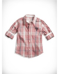 GUESS Little Boy Gingham Shirt