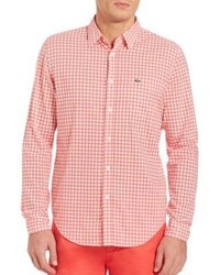 Lacoste Long Sleeve Gingham Checked Shirt