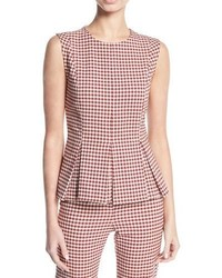 Tara gingham pleated peplum top medium 5277216