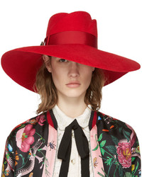 Gucci Red Anita Fedora