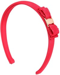 Salvatore Ferragamo Cotton Grosgrain Headband W Bow