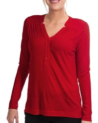 Lands' End Drape Notch Henley Shirt