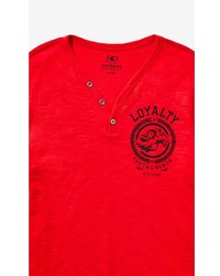 Express Loyalty Chest Graphic Henley Tee