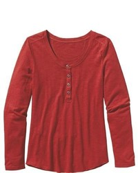 Patagonia Ls Necessity Henley Top Cochineal Red Henley Shirts