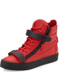 red high top sneakers for men men 39 s fashion. Black Bedroom Furniture Sets. Home Design Ideas